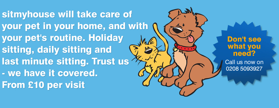 sitmyhouse will take care of your pet in your home, and with your pet's routine. Holiday sitting, daily sitting and last minute sitting. Trust us - we have it covered. From £10 per visit